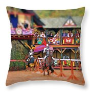 The Jousters Throw Pillow