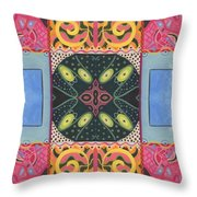 The Joy Of Design I X Arrangement Doors Throw Pillow