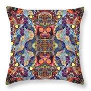 The Joy Of Design Mandala Series Puzzle 1 Arrangement 5 Throw Pillow