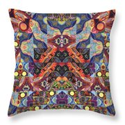 The Joy Of Design Mandala Series Puzzle 1 Arrangement 9 Throw Pillow