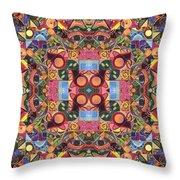 The Joy Of Design Mandala Series Puzzle 2 Arrangement 1 Throw Pillow