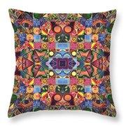 The Joy Of Design Mandala Series Puzzle 2 Arrangement 9 Throw Pillow