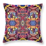 The Joy Of Design Mandala Series Puzzle 3 Arrangement 1 Throw Pillow