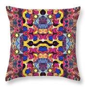 The Joy Of Design Mandala Series Puzzle 3 Arrangement 4 Throw Pillow