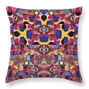 The Joy Of Design Mandala Series Puzzle 3 Arrangement 6 Throw Pillow