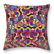 The Joy Of Design Mandala Series Puzzle 3 Arrangement 8 Throw Pillow