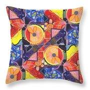 The Joy Of Design Vll Arrangement Joyful Entanglements Throw Pillow