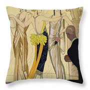 The Judgement Of Paris Throw Pillow