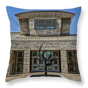 The Jule Collins Smith Museum Of Fine Art Throw Pillow
