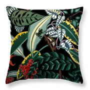 The Jungle Throw Pillow by Anthony Morris