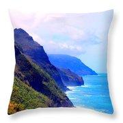 The Kalalau Trail Throw Pillow