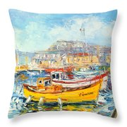 The Kalk Bay Harbour Throw Pillow
