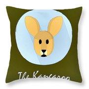 The Kangaroo Cute Portrait Throw Pillow