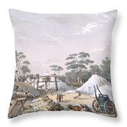 The Kapunda Copper Mine, From South Throw Pillow