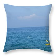 The Kayak And The Gull Throw Pillow
