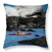 The Kayaker Throw Pillow