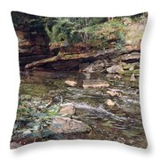 The Kelpie And The Highlander Throw Pillow