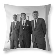 The Kennedy Brothers Throw Pillow