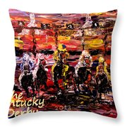 The Kentucky Derby - And They're Off  Throw Pillow