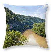 The Kentucky River Throw Pillow