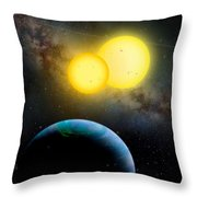 The Kepler 35 System Throw Pillow