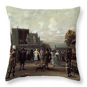 The Kermesse Throw Pillow