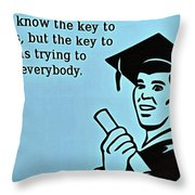The Key To Success Throw Pillow