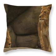 The King And His Queens Throw Pillow