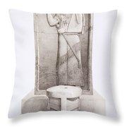 The King And Sacrificial Altar, Nimrud Throw Pillow