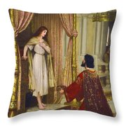 The King And The Beggar-maid Throw Pillow