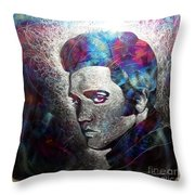 The King Throw Pillow by Chris Mackie