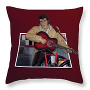 The King Elvis Throw Pillow