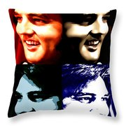 The King Of Rock And Roll Throw Pillow