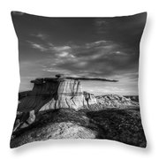 The King Of Wings Monochrome Throw Pillow
