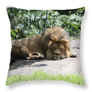 The King On His Day Off Throw Pillow
