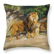 The King Watches Throw Pillow