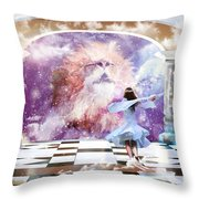The Kings Court Throw Pillow