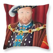 The Kings Head Throw Pillow
