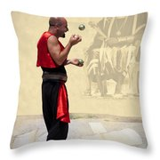 The King's Jester Throw Pillow