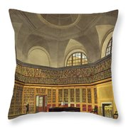 The Kings Library Throw Pillow