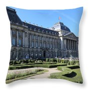 The King's Palace In Brussels Throw Pillow
