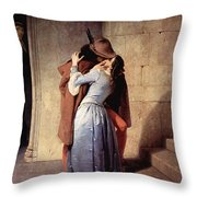 The Kiss 1859 Throw Pillow