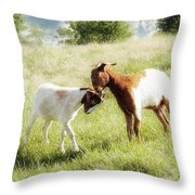 The Kiss Throw Pillow by Amy Tyler