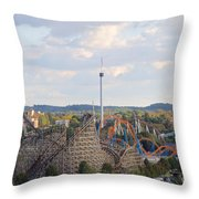 The Kiss And The Coasters Throw Pillow