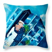 The Kiss At One Tower Throw Pillow