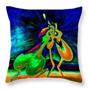 The Kiss Of Nature Throw Pillow
