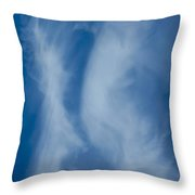 The Kissing Clouds Throw Pillow
