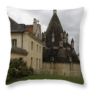 The Kitchenbuilding - Abbey Fontevraud Throw Pillow