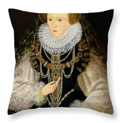 The Kitchener Portrait Of Queen Throw Pillow