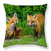 The Kits Throw Pillow